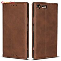 For Sony Xperia XZ Premium Luxury Magnetic Leather Wallet Flip Case Cover
