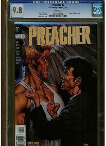 PREACHER #4 CGC 9.8 MINT WHITE PAGES DEATH OF SHERIFF ROOT GARTH ERNNIS VERTIGO