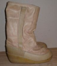 VINTAGE SABA Pinguino made Italy leather snow boots size 40 women 9 men 7