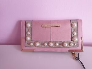 River Island purse pink and gold