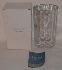 """MARQUIS BY WATERFORD 8"""" OVAL CRYSTAL VASE. NEW IN ORIGINAL BOX"""