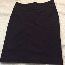 Have & Have Black Wiggle Women's Fitted Pencil skirt Size M Zip Back Pinstripe