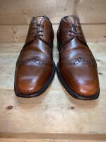 MASSIMO EMPORIO MEN'S BROWN LEATHER BROGUE WINGTIP OXFORD DRESS SHOES US 8 M
