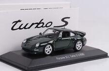 1:43 Porsche 911 993 Turbo S 3.6 darkgreen grün 1998 Minichamps Diecast Museum