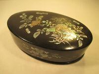 Intarsio Scatola Lacca Con Perlmutteinlagen Art Deco Cina Arte Asiatica Vecchio