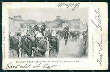 Firenze Mugello Manovre Militari 1902 cartolina KF2715