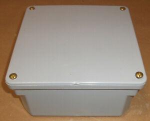 "SCEPTER PVC ENCLOSURE INDUSTRIAL GREY BOX JUNCTION 8"" X 8"" X 4"" NEMA 4X SEALED"