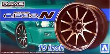 "Aoshima 1/24 Volk CE28 N 19"" Wheel Rims & Tire Set For Plastic Models 5391 (58)"