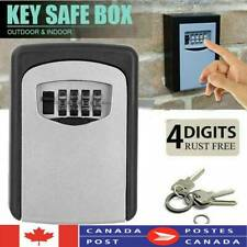4Digit Combination Key Lock Box Wall Mount Safe Security Storage Case Organizer