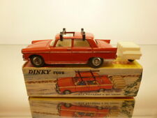 DINKY TOYS 536 PEUGEOT 404 + SMALL TRAILER - RED 1:43 - GOOD CONDITION IN BOX