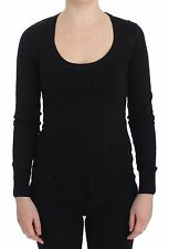 NWT $700 DOLCE & GABBANA Black Cotton Blend Sweater Pullover Top IT42/ US8 / M