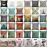 Floral Linen Throw Pillow Cases Cushion Cover Sofa Bedroom Home Decor Square New