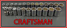 CRAFTSMAN HAND TOOLS 25pc 12pt 1/2 SAE & METRIC MM ratchet wrench socket set