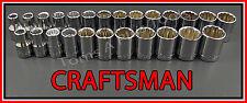 CRAFTSMAN HAND TOOLS 25pc 12pt 1/2 SAE & METRIC MM ratchet wrench socket set