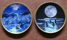 Lenox > Pair Of Lenox Plates > Limoges, France > (whale, seal, & dolphins) x11