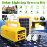 Solar Panel Power Generator Storage 2 LED Light Bulb USB Charger Home System