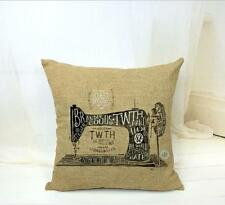 Retro Sewing Machine Letter Cushion Covers Pillow Cases Home Decor Pillow Cover
