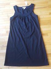 LOFT Ann Taylor Women's sleeveless Dress casual short black scoop neck pockets 6