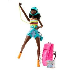 Barbie Made to Move African American Camping Fun Hiker Doll With Accessories