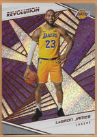 2018-19 Panini Revolution Lebron James Prizm Card #40 Los Angeles Lakers