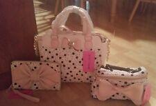 Betsey johnson handbags 3 piece set