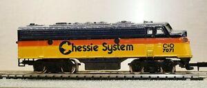 Bachmann N Scale EMD F9A  Chessie System Locomotive C&O #7071