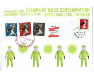 Jimmy Cauty 1st Day Cover Stamps of Mass Contamination FDC addressed to The KLF