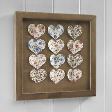 Vintage Shabby Chic Hearts Picture Wall Hanging REDUCED