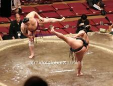 Photo. 2000s. Tokyo. Sumo Wrestling Ritual Combat Bullying Before Match