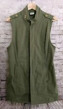 CAbi Explorer Vest Small Olive Army Green Utility Military Style #5101