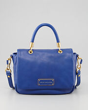 NWT Marc by Marc Jacobs ORIGINAL Too Hot to Handle Leather Satchel Bag BLUE $428