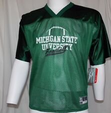 New NCAA MICHIGAN STATE SPARTANS FOOTBALL Unisex L HOLLOWAY TACKLE MESH PULLOVER