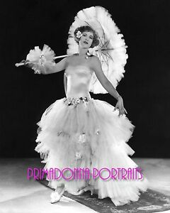 ESTHER RALSTON 8X10 Lab Photo 1930's Lace and Graceful Parasol Beauty Actress