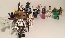 Lego monster hunter/fighter Mini figure lot Skeletons Dracula coffin mummy swamp