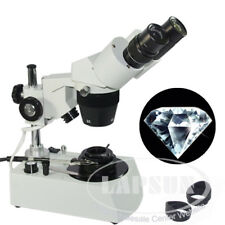 20X-40X Jewelry Gem Diamonds Stereo Binocular Microscope Darkfield Condenser US