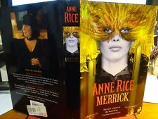 ANNE RICE * MERRICK - ( HARDBACK DJ ) FIRST EDITION 2000 VAMPIRE CHATTO UK