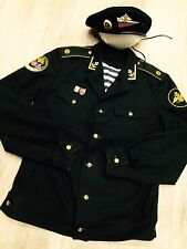 Uniform tunic, jacket, Russian Soviet Navy officer marine captain rare+hat