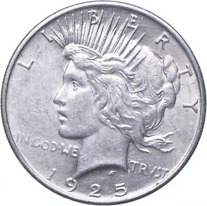 AU/Unc Stunning- Better DATE - 1925 Peace Silver Dollar *940