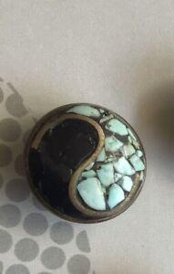 "Genuine Noosa Amsterdam Chunk Limited Edition ""Yin Yang"" Mosaic *Rare"