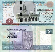 EGYPT 5 Pound Banknote World Paper Money UNC Currency Pick p63f 2014 Bill Note