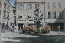 """NUOVO Originale Fraser King """"La Rochelle"""" GOLFO DI BISCAGLIA Francia francese dipinto città"""