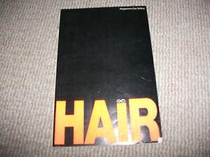 Hair theatre programme (1970, Bristol Hippodrome, Richard O'Brien, Paul Barber)