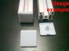 Aluminum T-slot profile End Cap 3030 plastic white-grey 30x30mm, 24-set