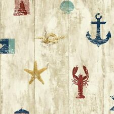 "Nautical Weathered Seashore 33' x 20.5"" Scenic Wallpaper NY4882 FREE SHIPPING"