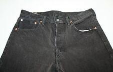 Levis 501XX Mens Black Denim Jeans 34W X 34L Button Fly Levi Straight Leg