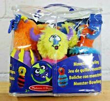 Monster Bowling Set NEW Melissa & Doug plush stuffed game Children Kids Party A5