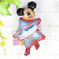 """Personnalisez Votre propre Nom Joyeux anniversaire Mickey Mouse Foil Balloon 39 cm ou 15"""""""