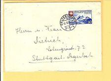 Suiza mié. - nº 340 como EF a. pra. - activaciones. - carta V. Gelterkinden n. Alemania