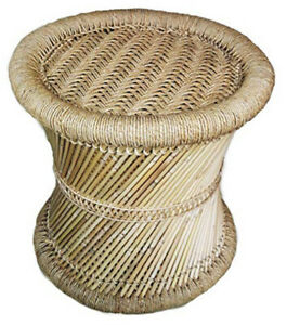 Handmade handcraft stool aka muddha made only in india vintage theme jute made