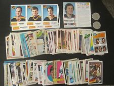 Vancouver Canucks Cards 1971/72-1989/90+. 253 cards + 35 stickers + 2 coin3